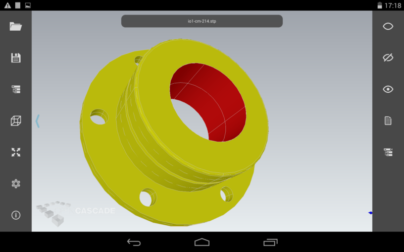 Cax If Test Model In Cad Istant For Android
